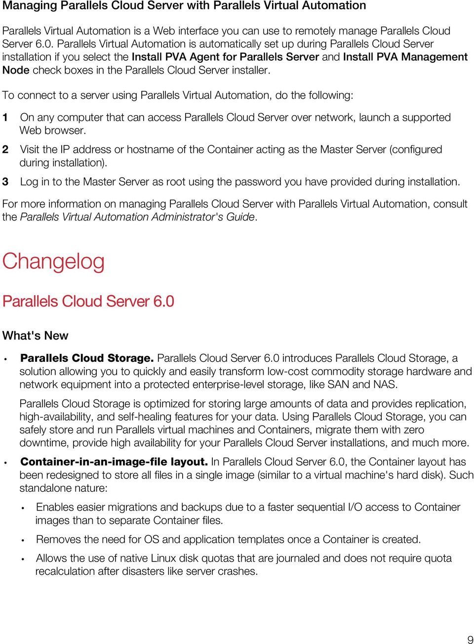 the Parallels Cloud Server installer.