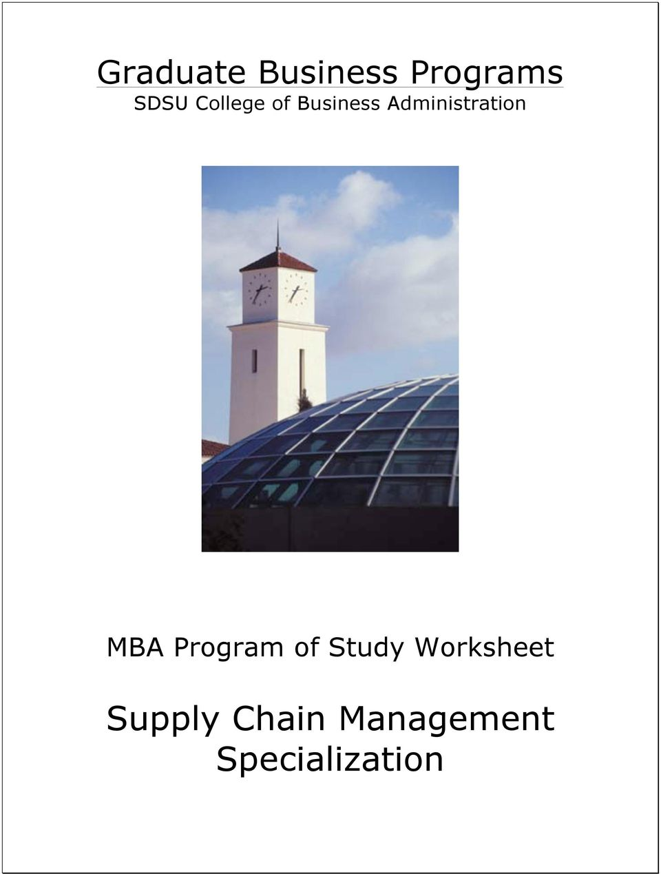 Administration MBA Program of
