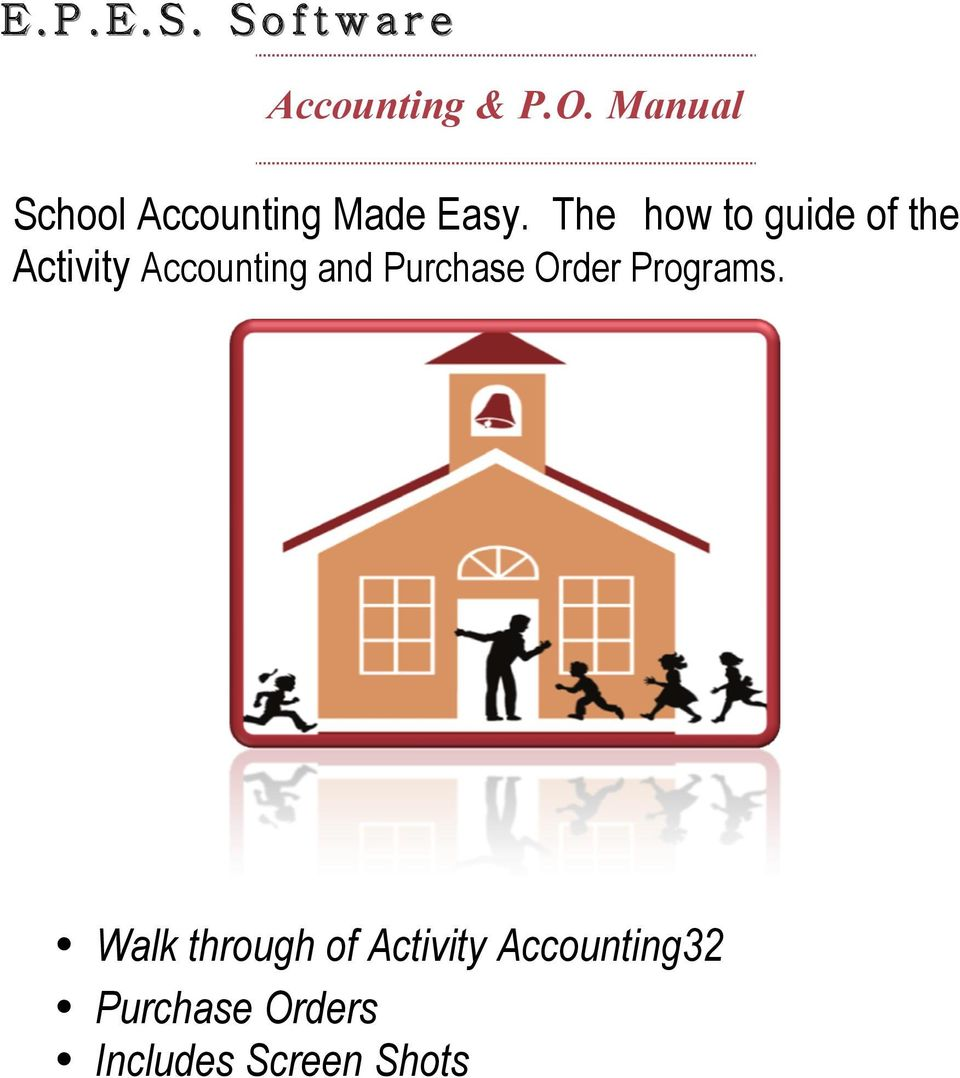 The how to guide of the Activity Accounting and