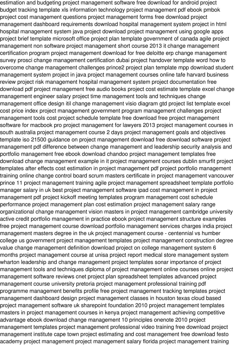 management using google apps project brief template microsoft office project plan template government of canada agile project management non software project management short course 2013 it change