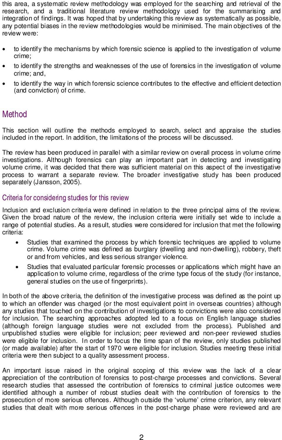 importance of forensic science in criminal investigation pdf