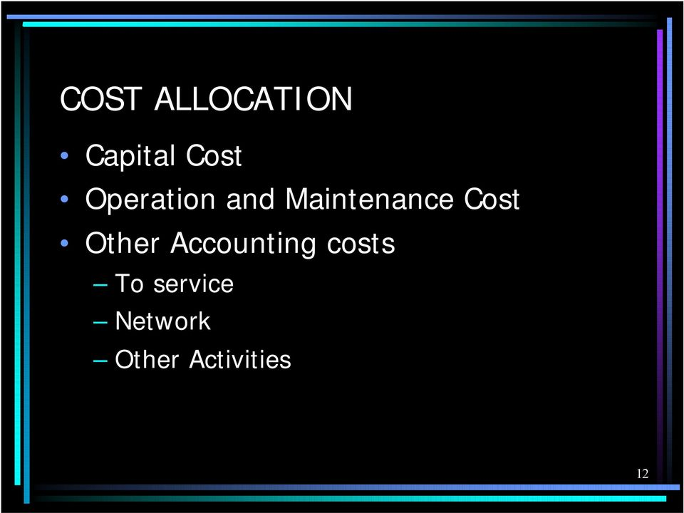 Other Accounting costs To