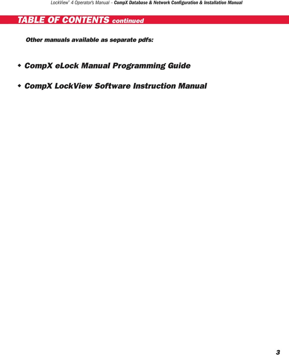 CompX elock Manual Programming Guide