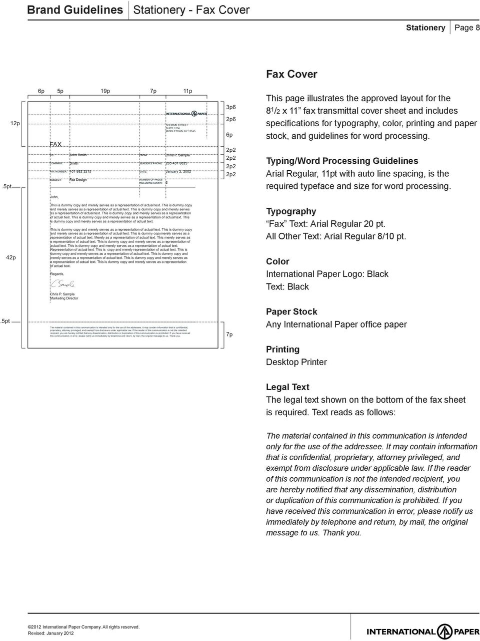 typography, color, printing and paper stock, and guidelines for word processing.