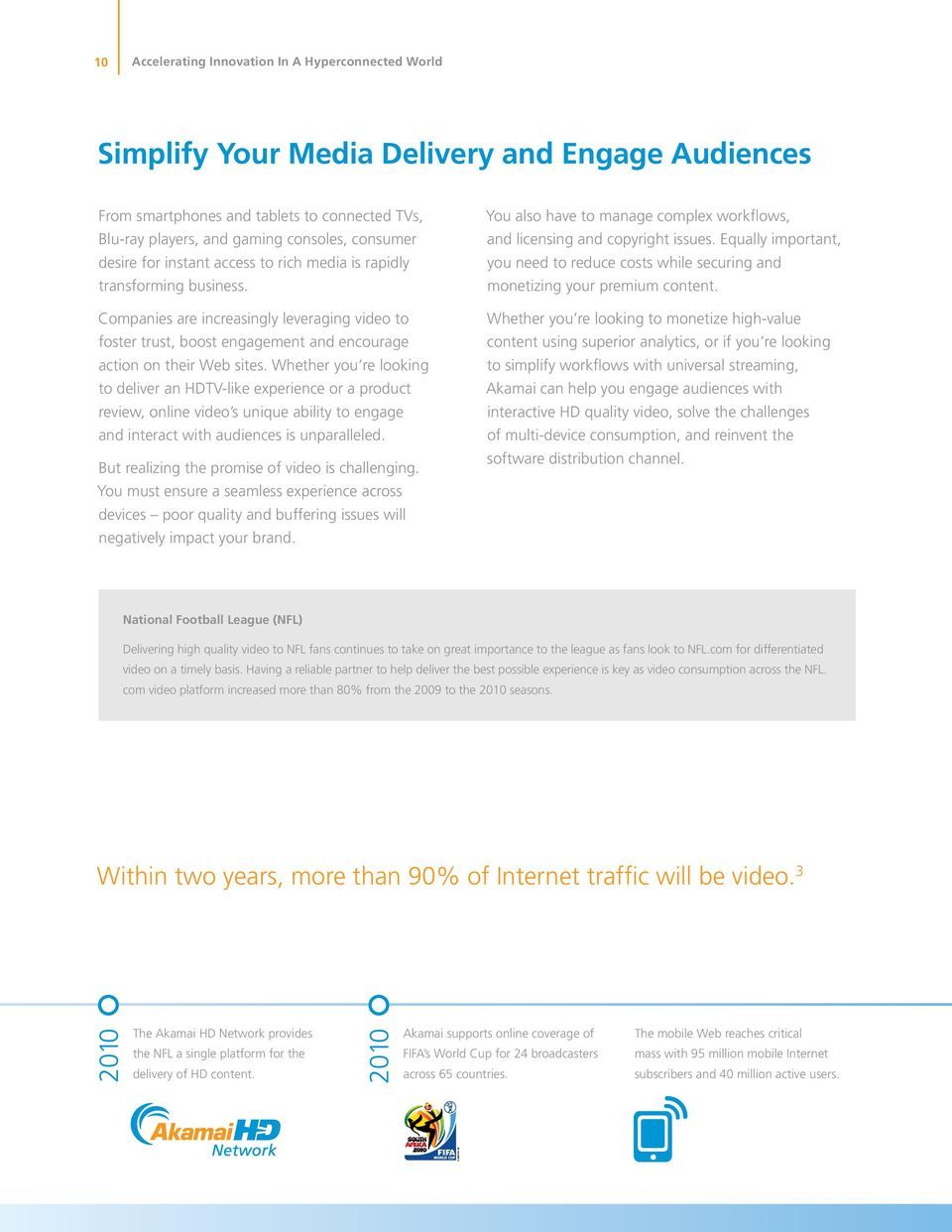 Whether you re looking to deliver an HDTV-like experience or a product review, online video s unique ability to engage and interact with audiences is unparalleled.