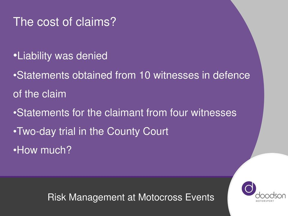 witnesses in defence of the claim Statements for