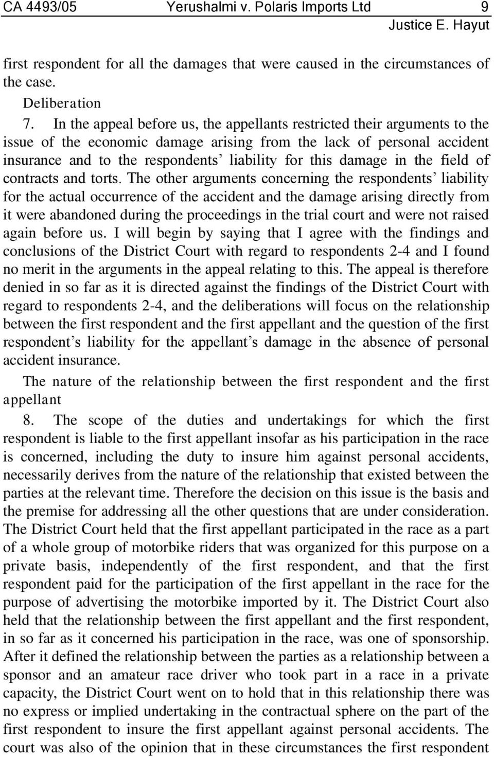damage in the field of contracts and torts.