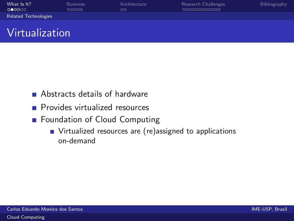virtualized resources Foundation of