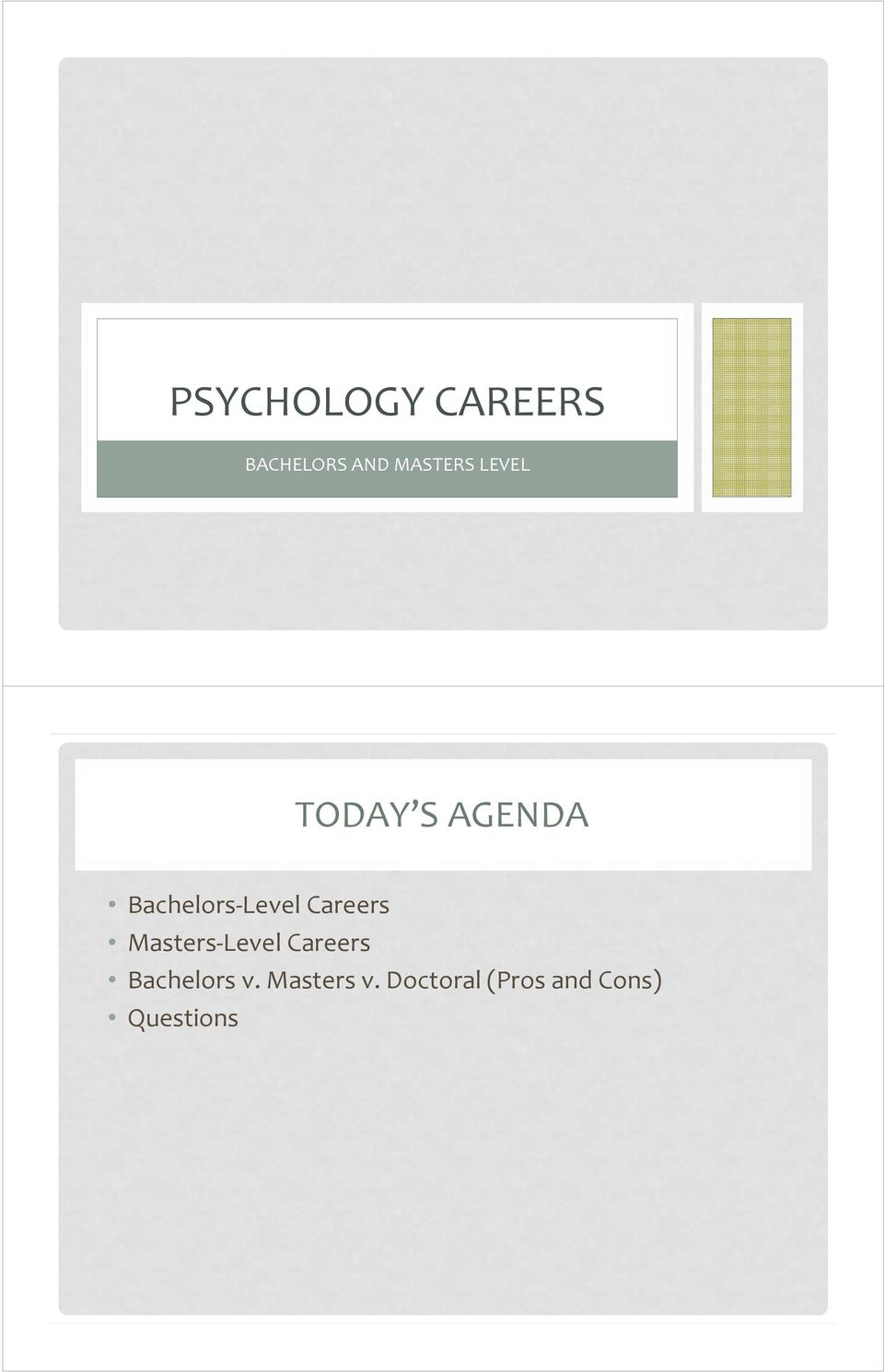 Careers Masters Level Careers Bachelors v.