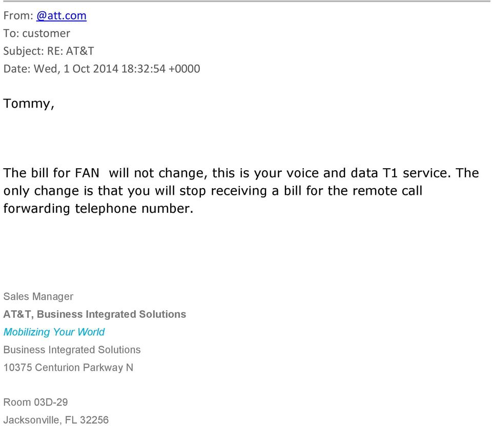 change, this is your voice and data T1 service.