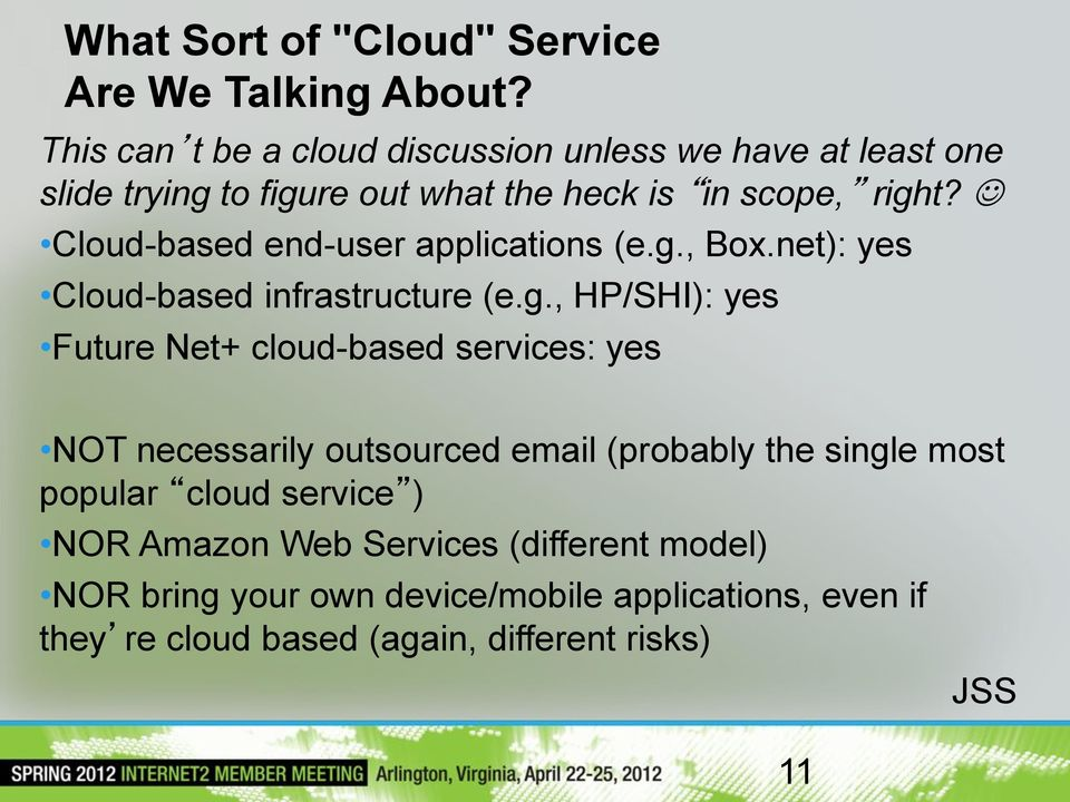 Cloud-based end-user applications (e.g.
