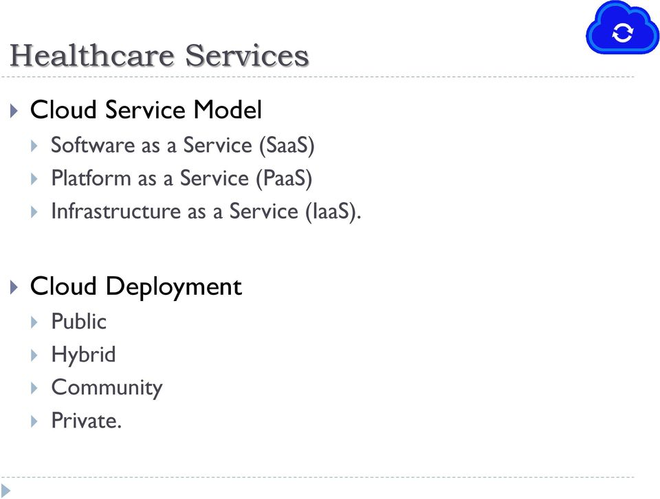 Service (PaaS) Infrastructure as a Service