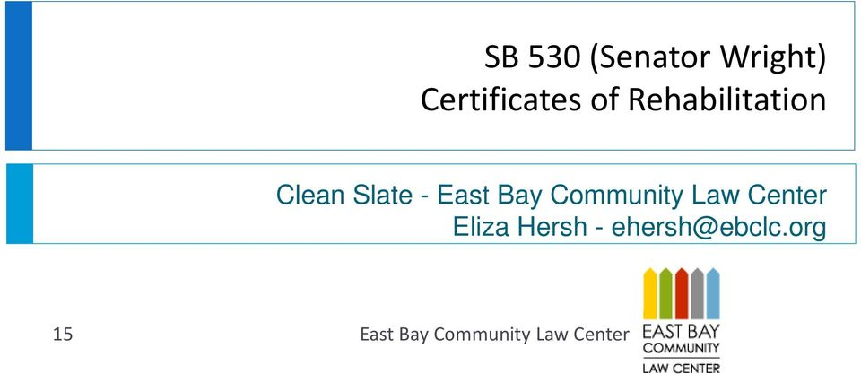 Community Law Center Eliza Hersh -