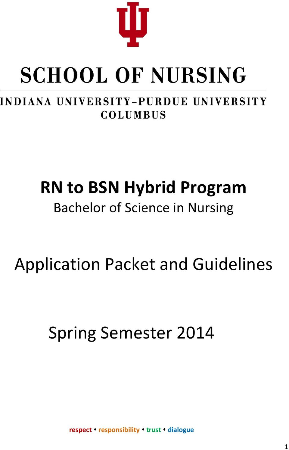 Nursing Application Packet
