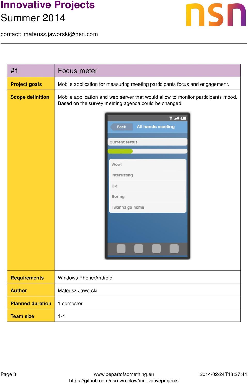 Mobile application and web server that would allow to monitor