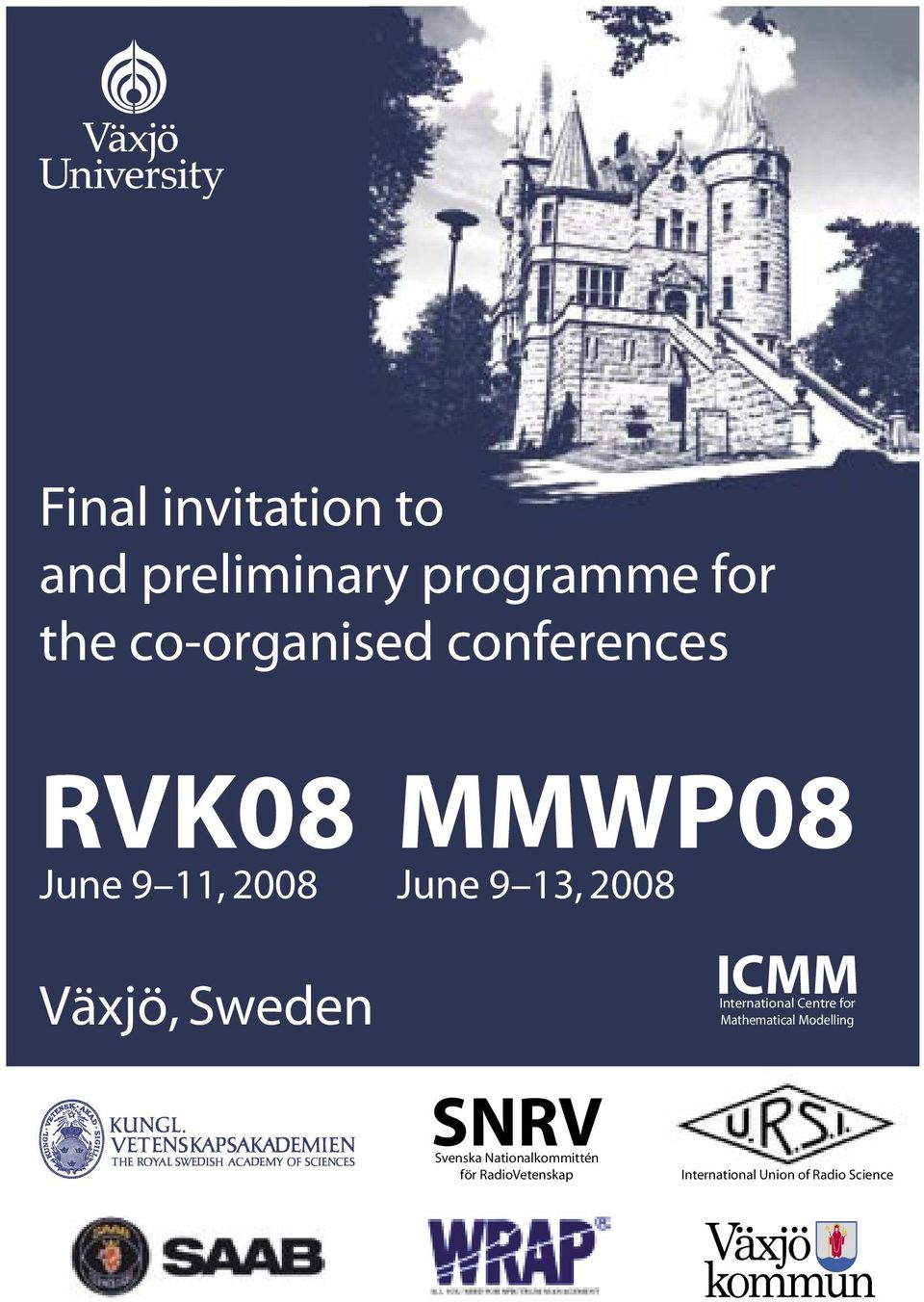 Sweden ICMM International Centre for Mathematical Modelling SNRV