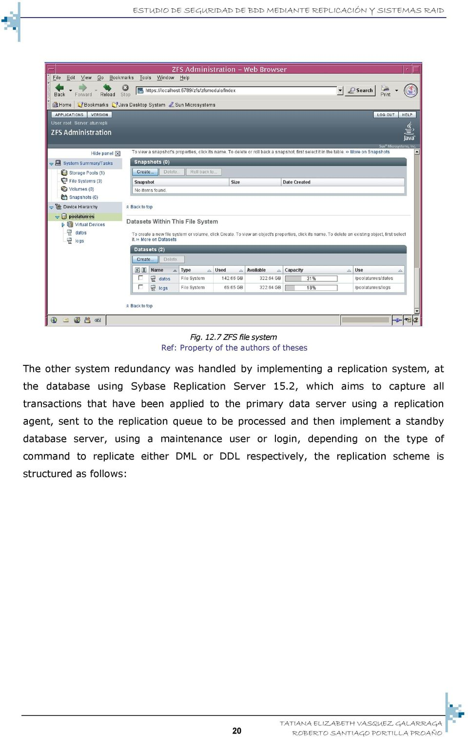 database using Sybase Replication Server 15.