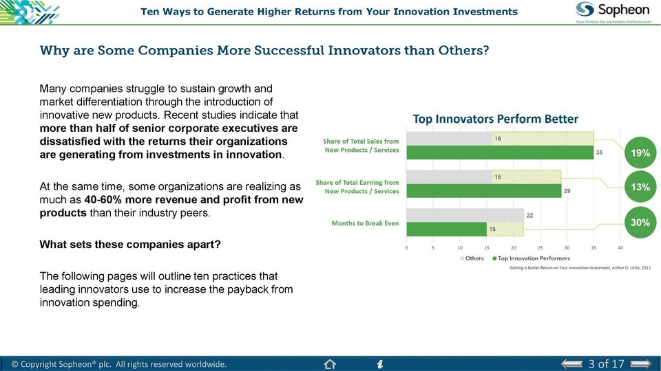 investments in innovation.