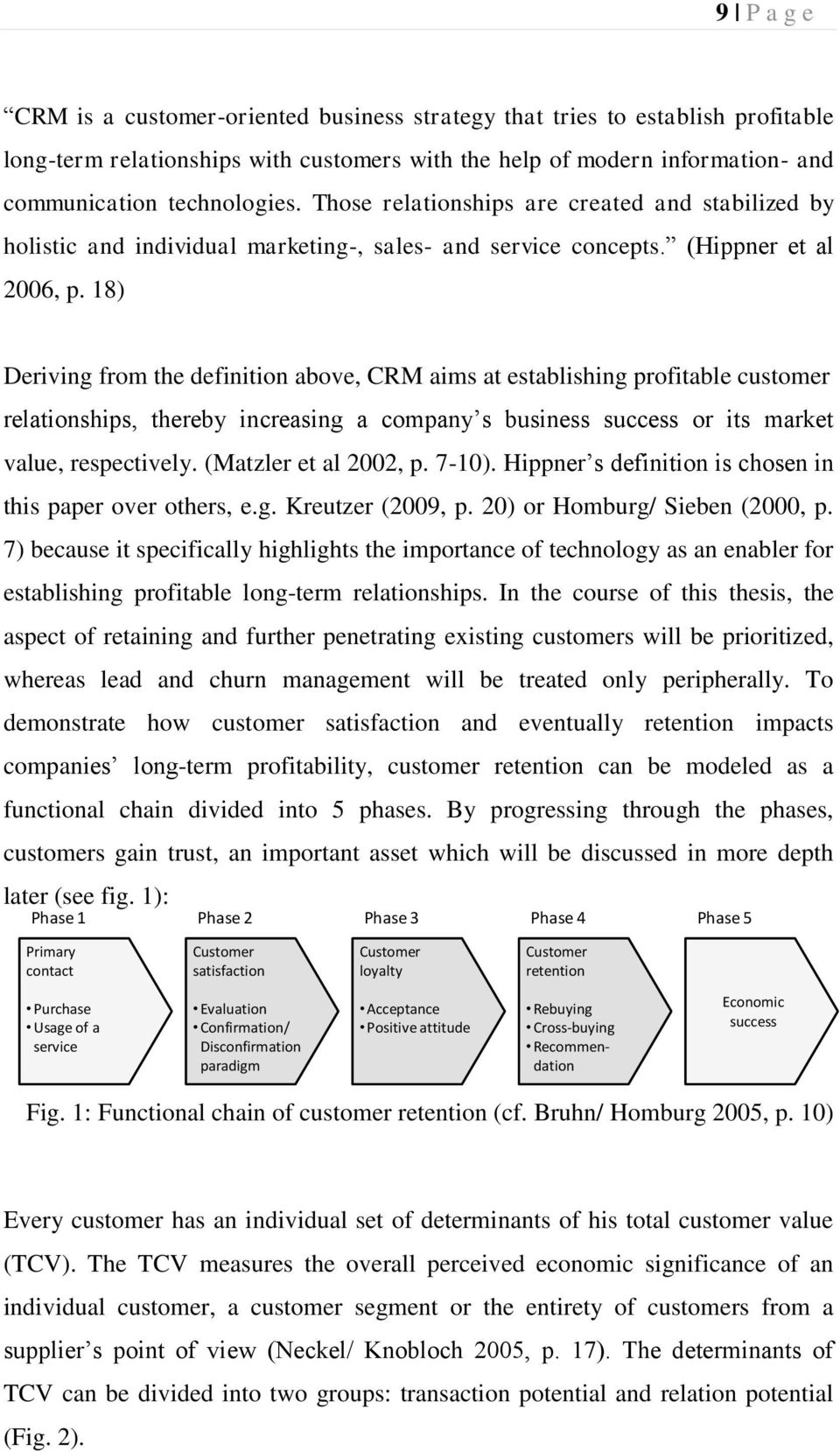 18) Deriving from the definition above, CRM aims at establishing profitable customer relationships, thereby increasing a company s business success or its market value, respectively.
