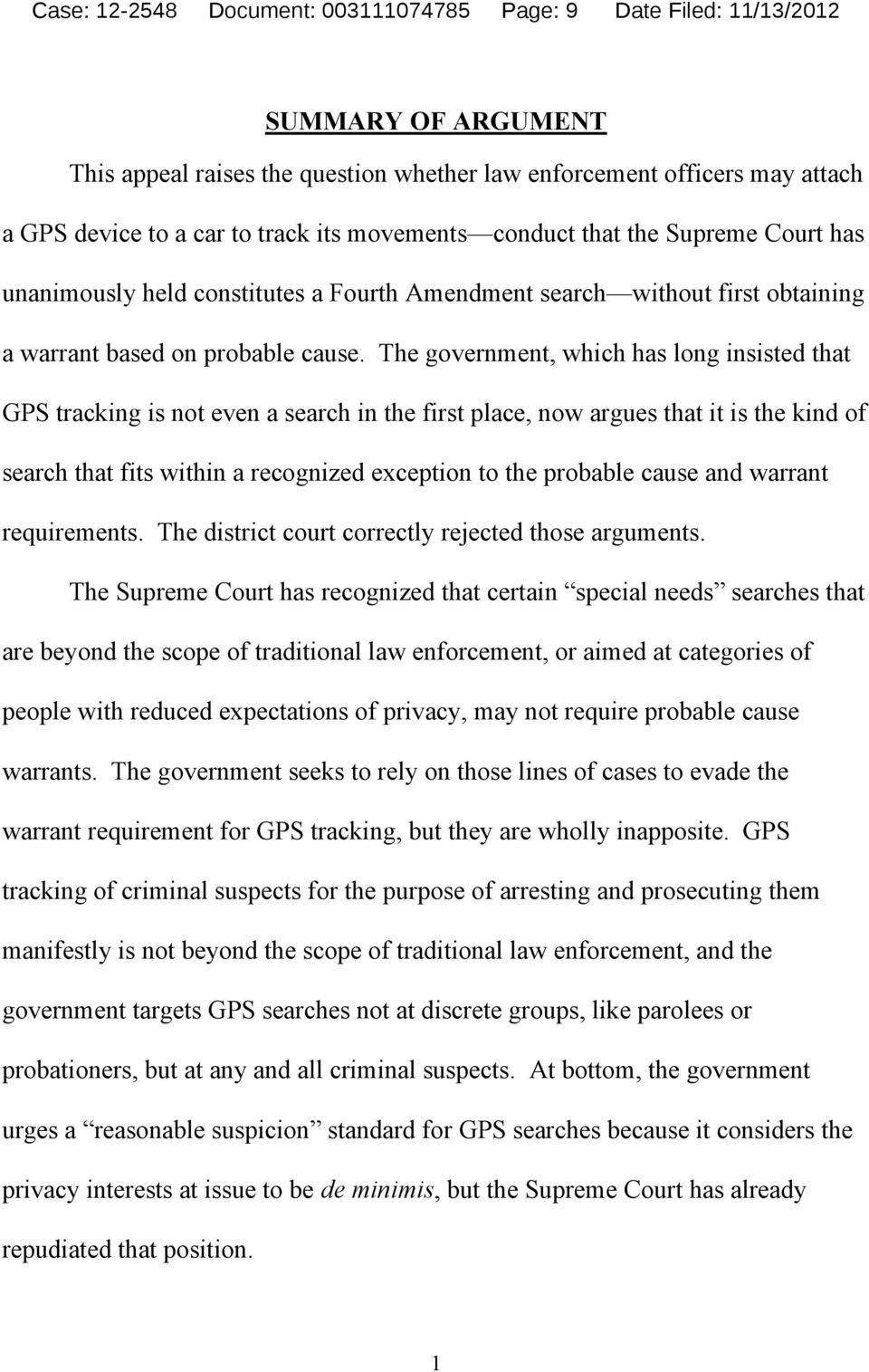Fourth Amendment search without first obtaining a warrant based on probable cause.