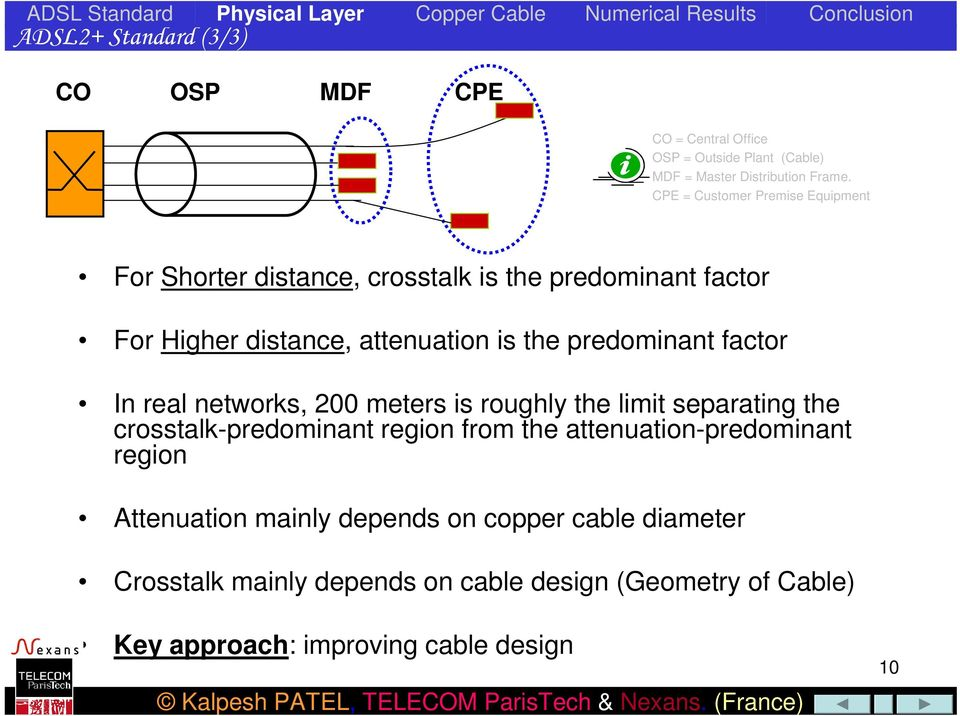 predominant factor In real networks, 200 meters is roughly the limit separating the crosstalk-predominant region from the