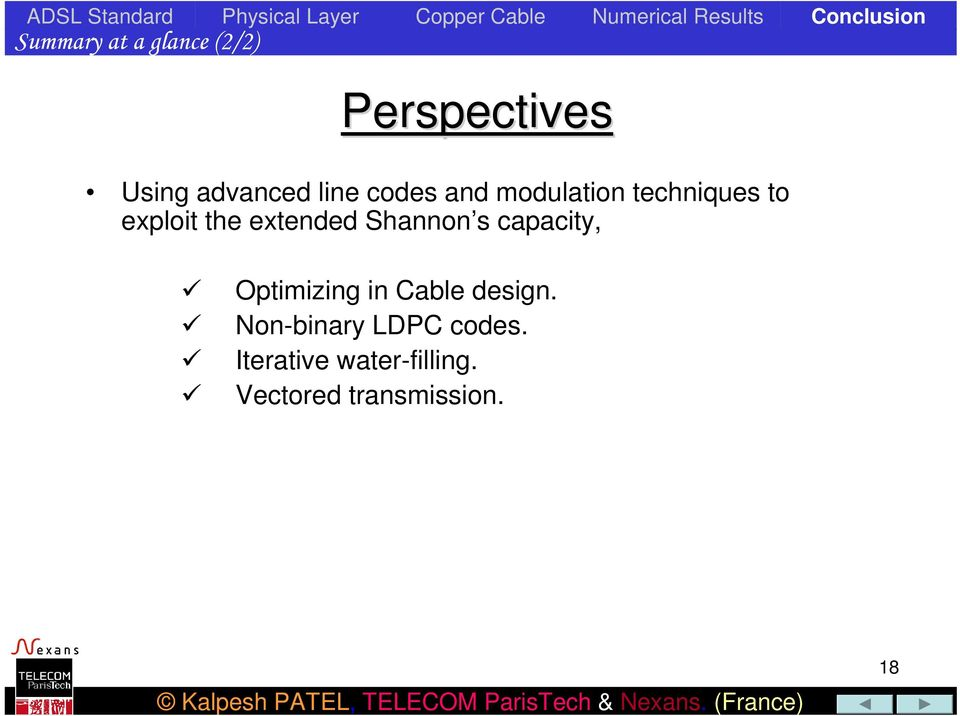Shannon s capacity, Optimizing in Cable design.