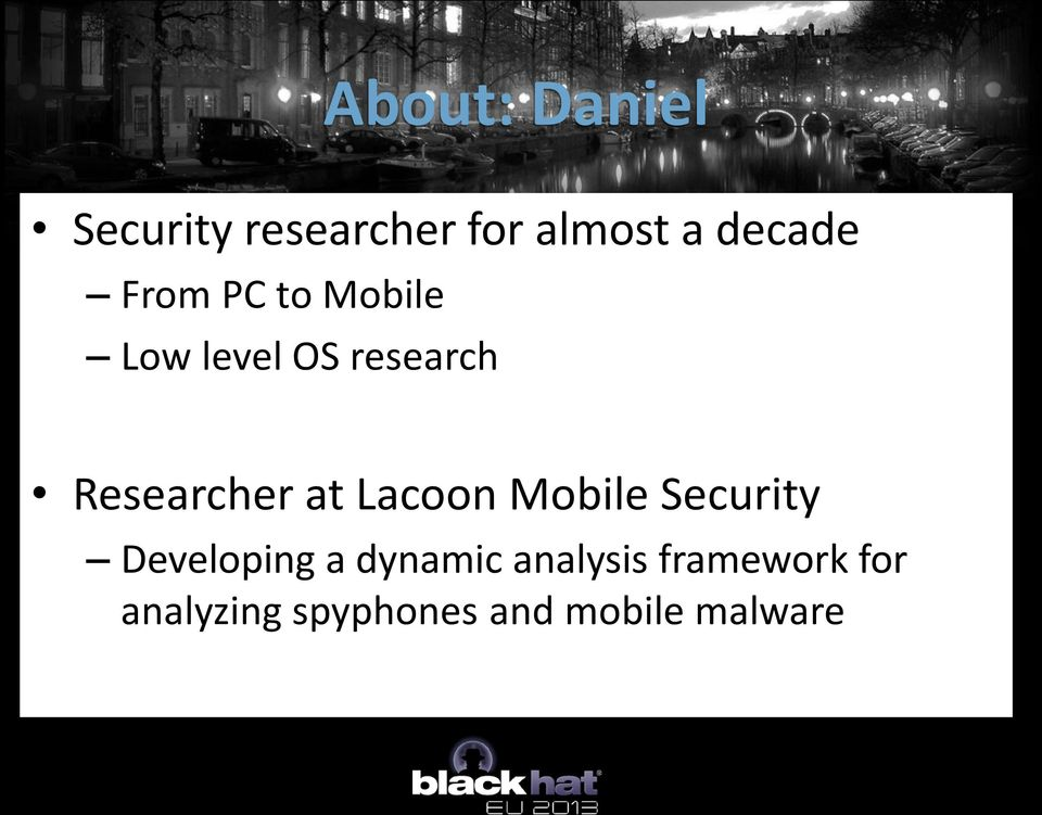 Lacoon Mobile Security Developing a dynamic analysis
