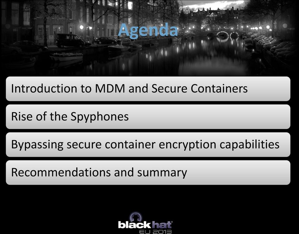 Bypassing secure container encryption
