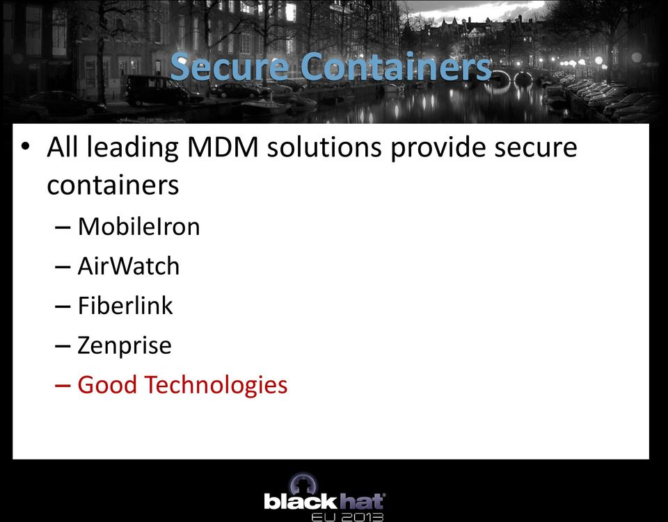 containers MobileIron AirWatch