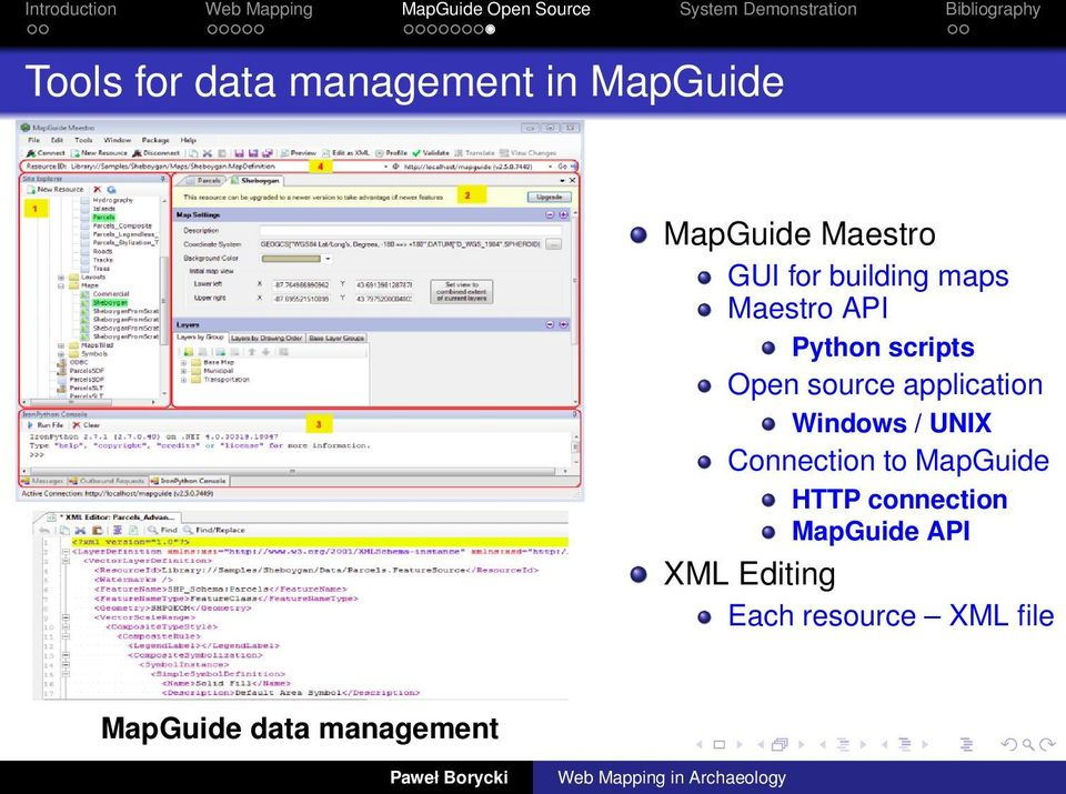 application Windows / UNIX Connection to MapGuide HTTP