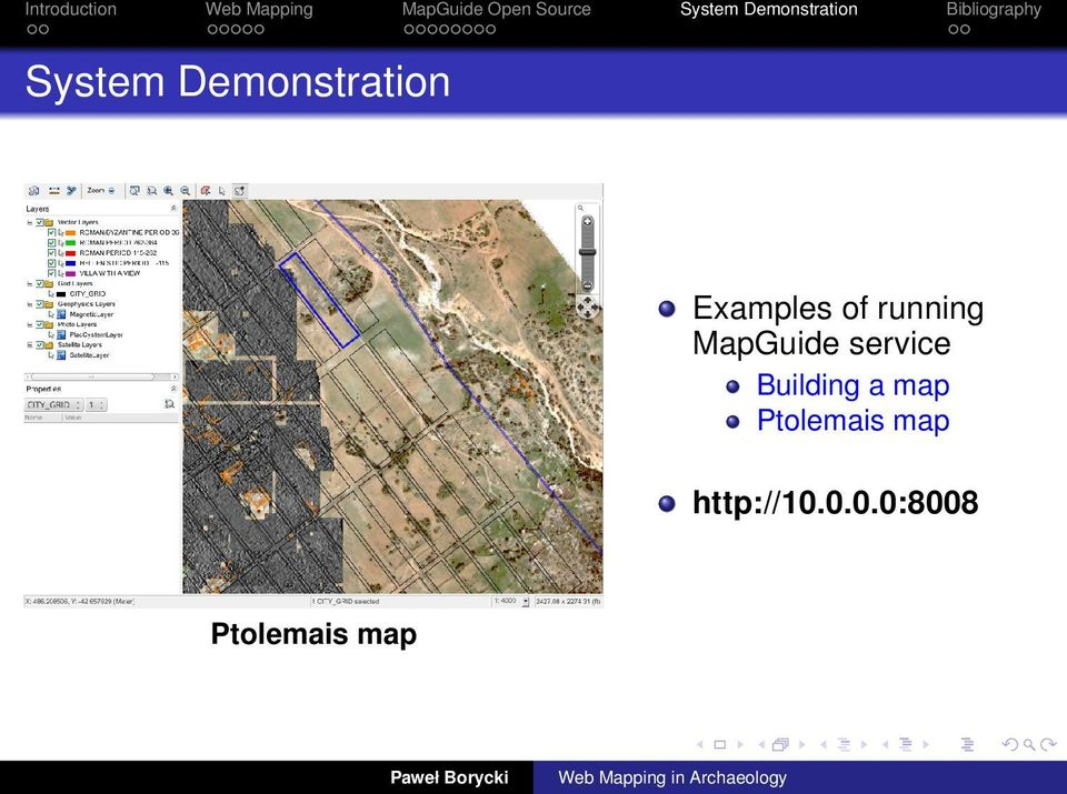 Demonstration Examples of running MapGuide service