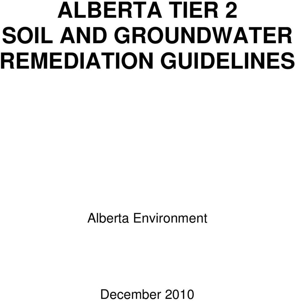 REMEDIATION GUIDELINES