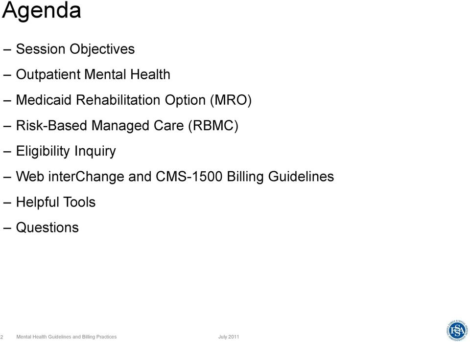 Eligibility Inquiry Web interchange and CMS-1500 Billing Guidelines