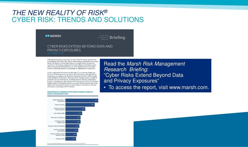 Briefing: Cyber Risks Extend Beyond Data and