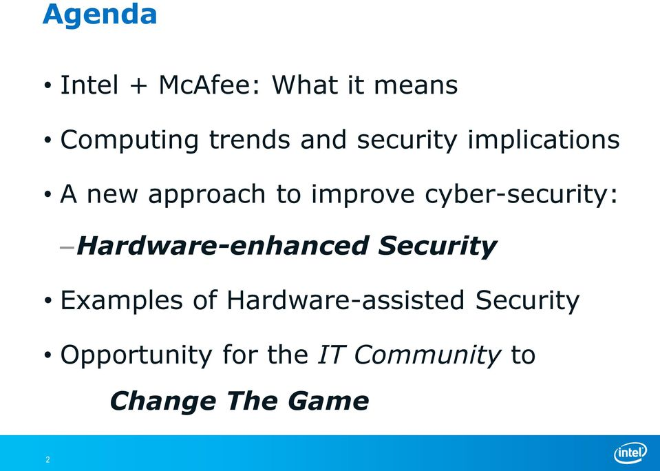 cyber-security: Hardware-enhanced Security Examples of