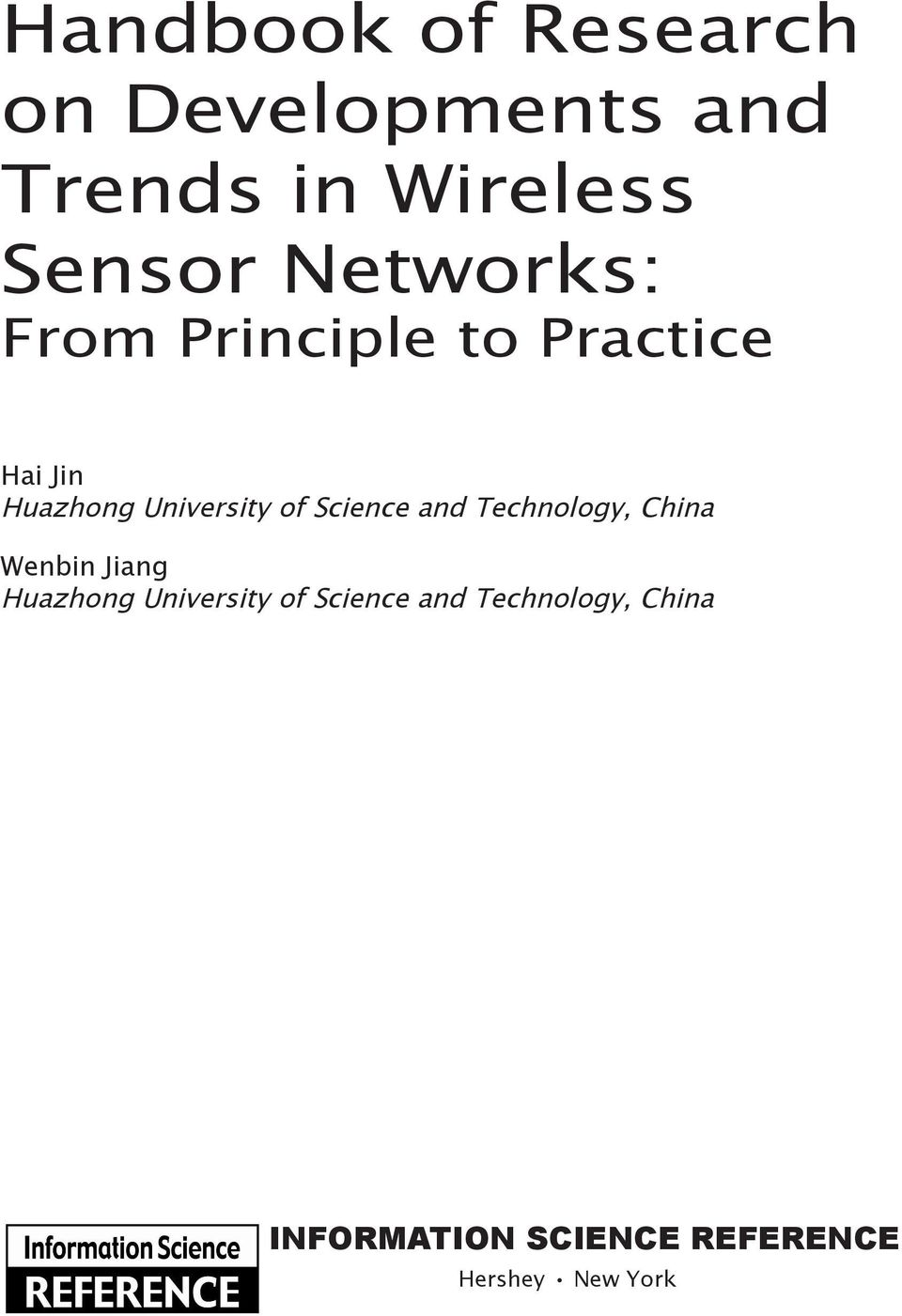 Science and Technology, China Wenbin Jiang Huazhong University of