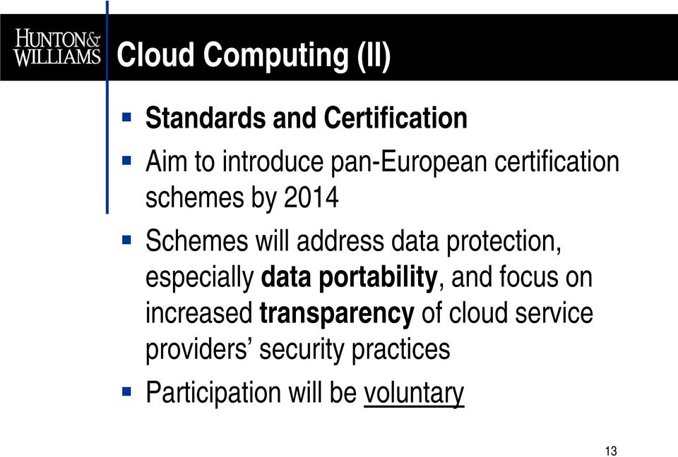 protection, especially data portability, and focus on increased