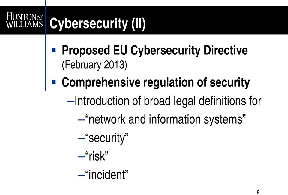 of security Introduction of broad legal definitions