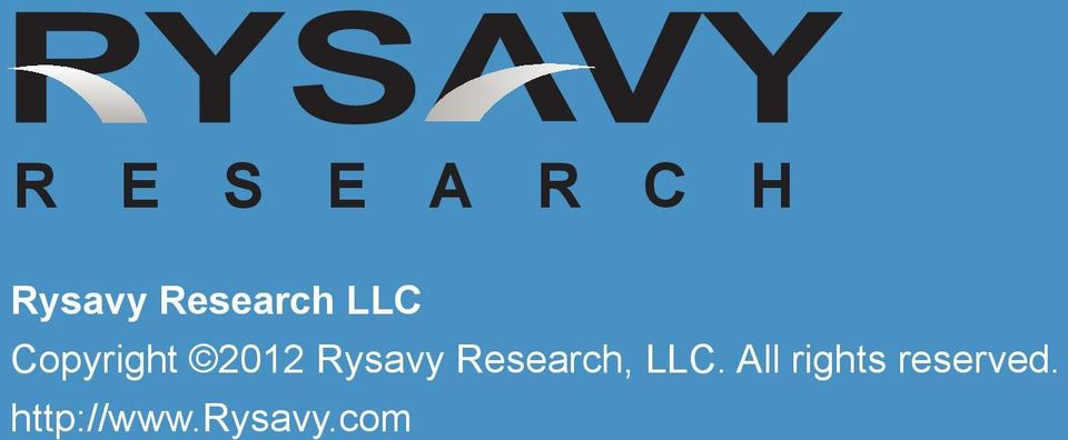Rysavy Research, LLC.