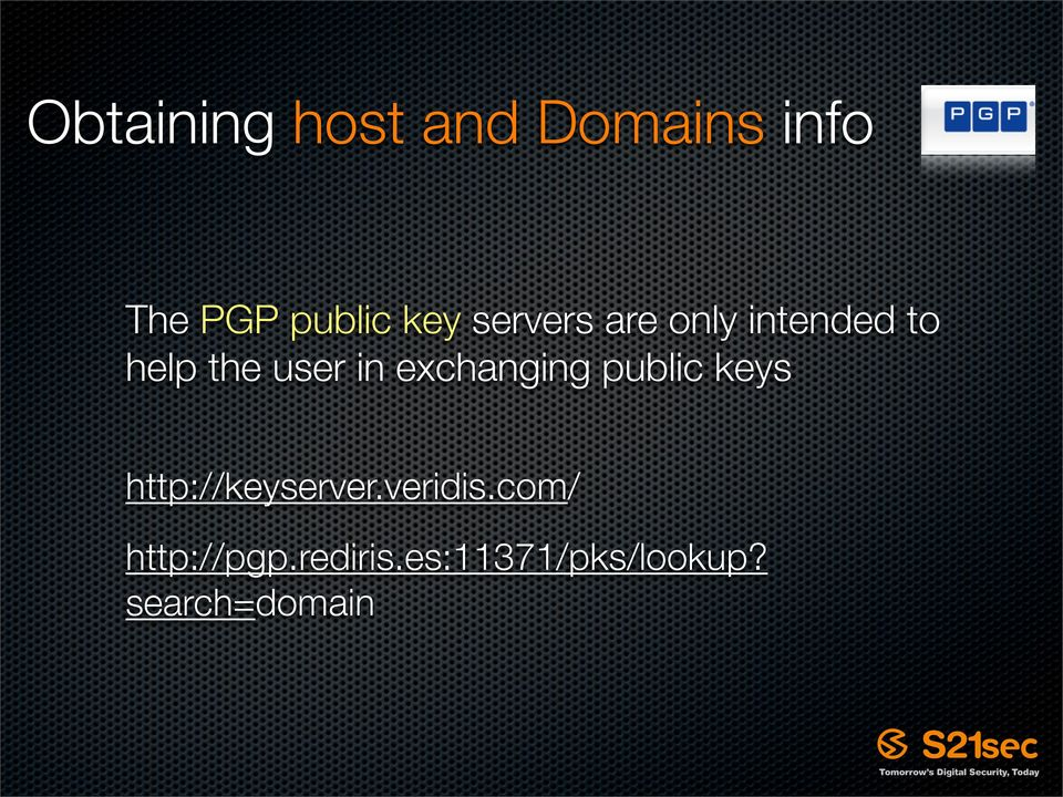 exchanging public keys http://keyserver.veridis.