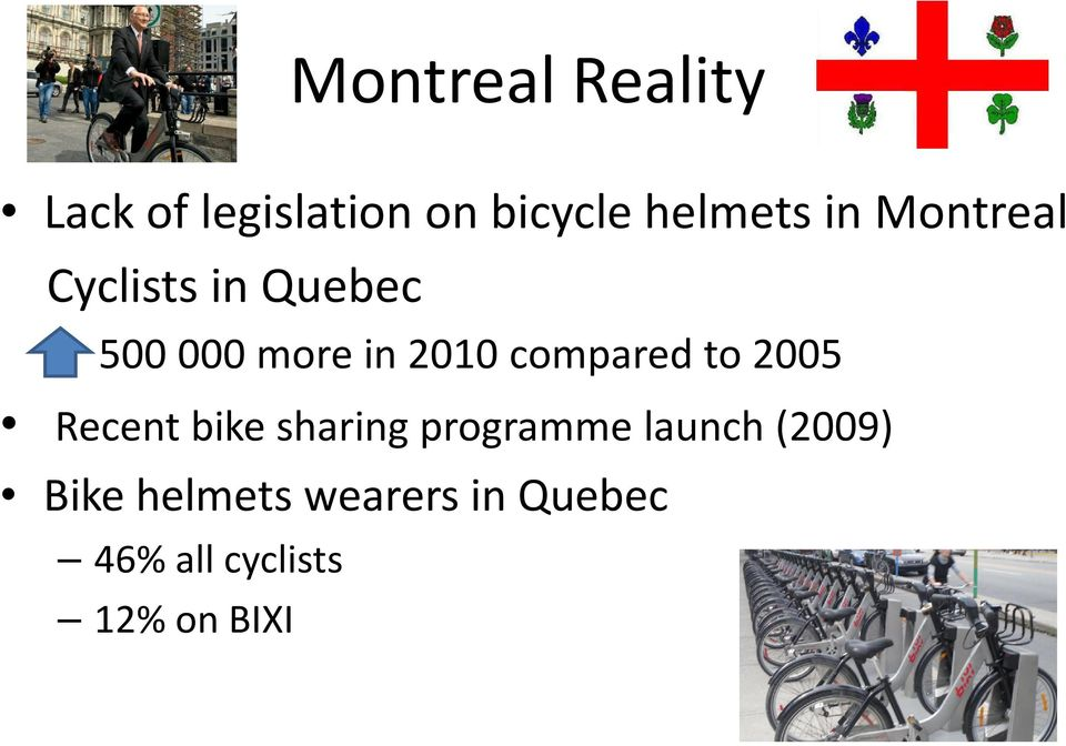 compared to 2005 Recent bike sharing programme launch