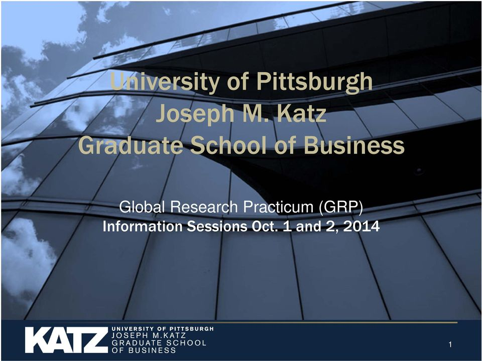 Global Research Practicum (GRP)