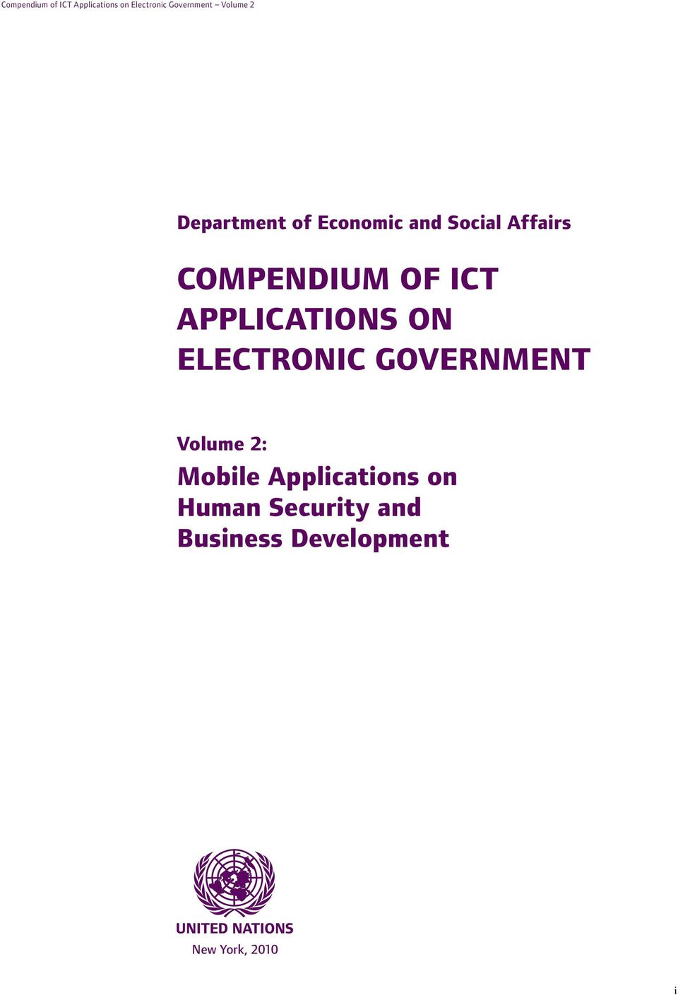 APPLICATIONS ON ELECTRONIC GOVERNMENT Volume 2: Mobile