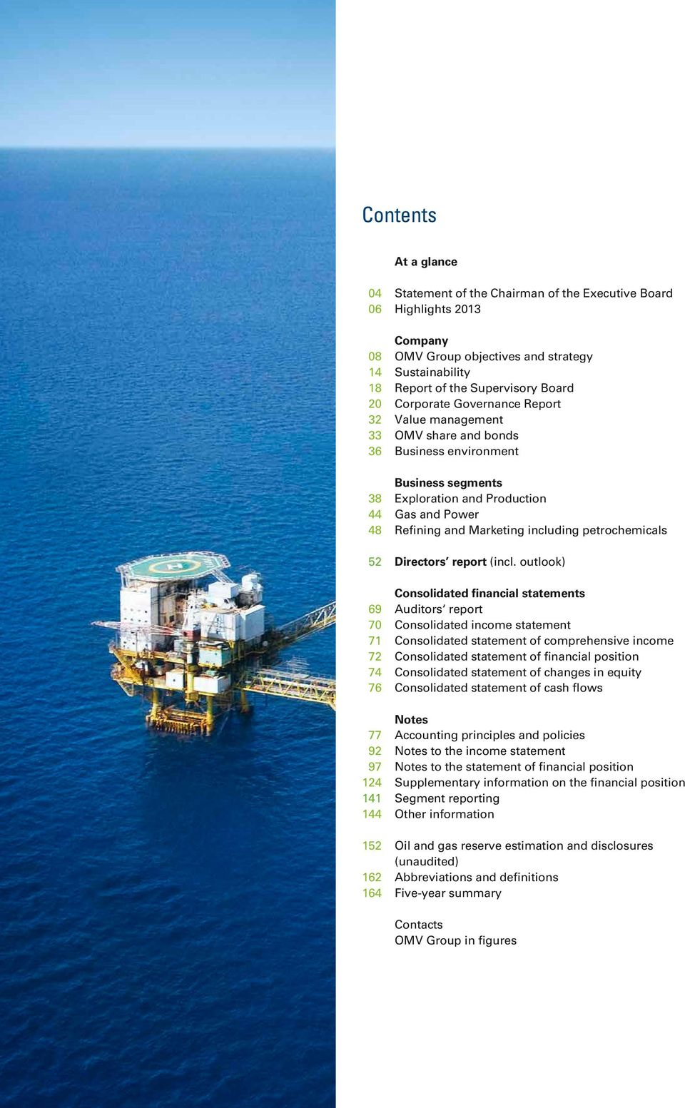 petrochemicals 52 Directors report (incl.