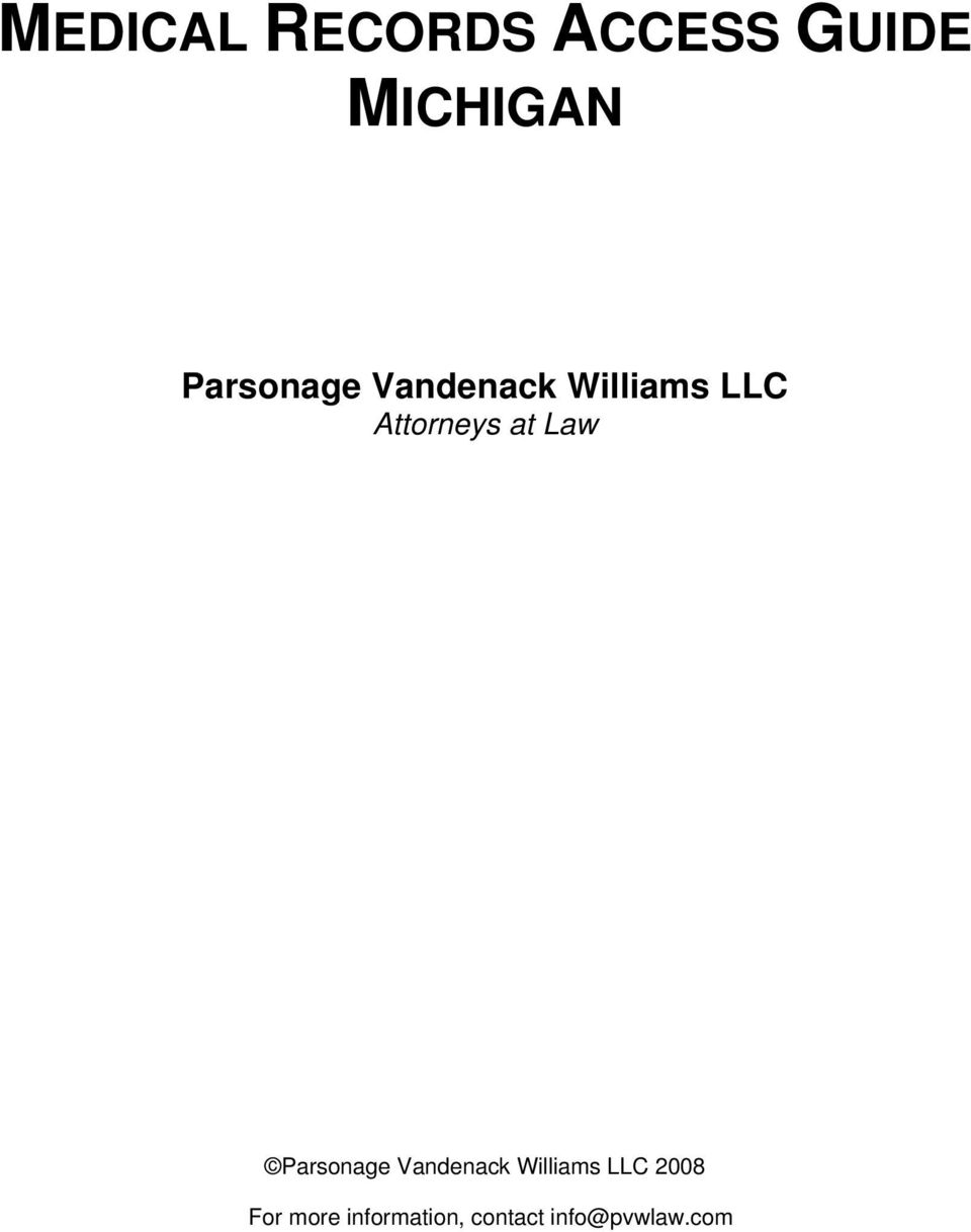 at Law Parsonage Vandenack Williams LLC