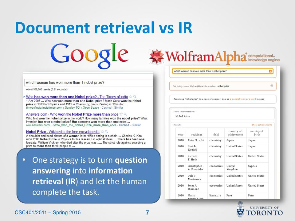 information retrieval (IR) and let the