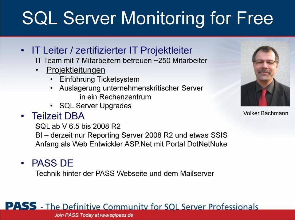 Server Upgrades Teilzeit DBA SQL ab V 6.
