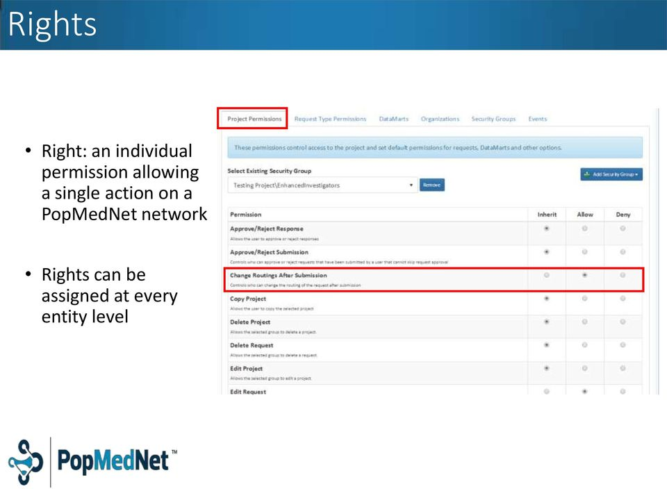 action on a PopMedNet network
