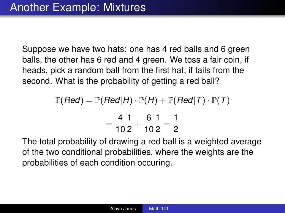 What is the probability of getting a red ball?