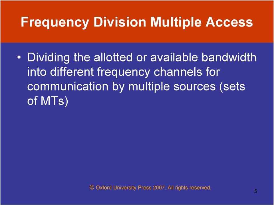 bandwidth into different frequency